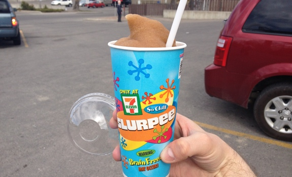Image result for slurpee and chips
