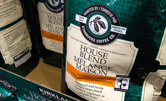 "Kirkland House Blend ""Roasted by Starbucks"" coffee"