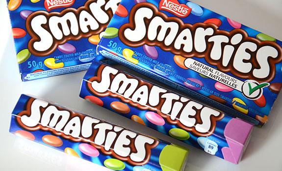 Food Fight: U.K. vs. Canadian Smarties candy | NEAROF Smarties Canada