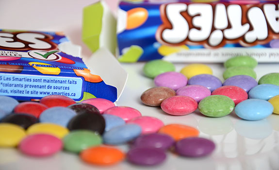 U.K. vs. Canadian Smarties candy