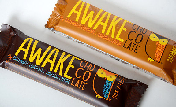 Awake caffeinated chocolate bar