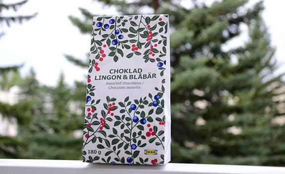 Ikea Choklad Lingon & Blabar chocolates